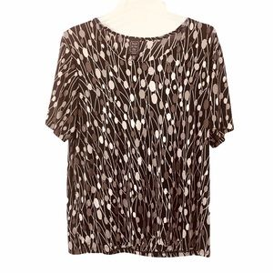 Suzie In The City Stretchy Print Scoop NeckTop